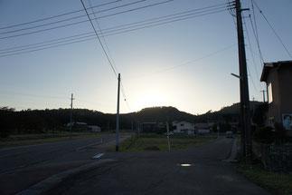 夕暮れ前の「春日山城跡」。秋の静寂に包まれて