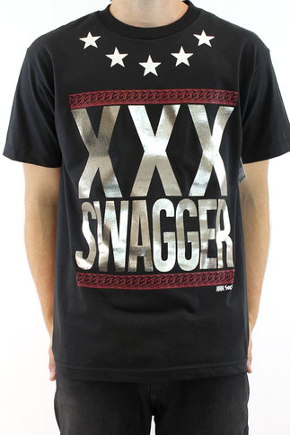 Hustle Ave Triple X Swagger T Shirt Black  Our Price: €39.99