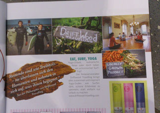 Driftwood Travelling im YOGA-Deutschland Magazin