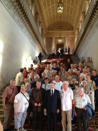 Visite d'un groupe d'habitants de Bérigny au SENAT avec leur maire, Denis Lécluze