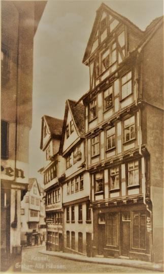 die Häuser Graben 56 -60 (Aufnahme ca. 1920)