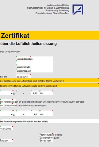 BlowerDoor Zertifikat