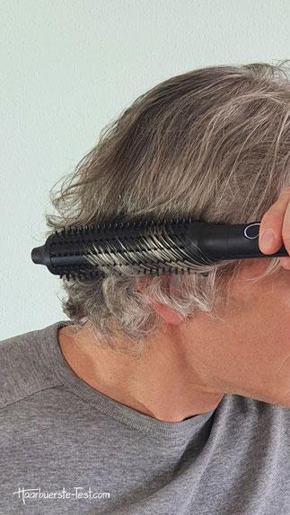GHD Rise Anwendung, ghd rise hot brush kurze haare