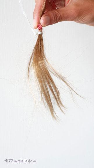 Haarsträhne elektrostatisch