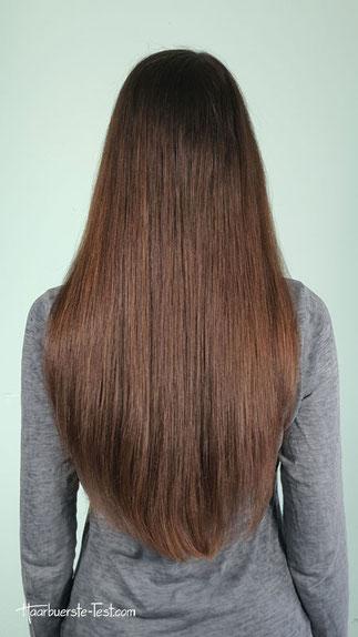 Natürlich glatte lange Haare