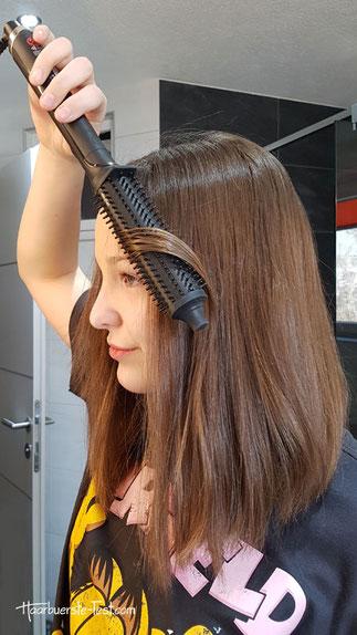 GHD Rise bei mittellangen Haaren.