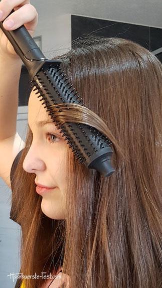 GHD Rise Anwendung mittellange Haare
