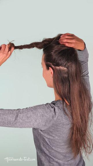 Haare zwirbeln