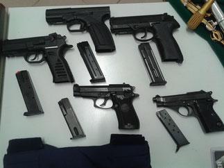 Tipologia di armi in dotazione ai reparti