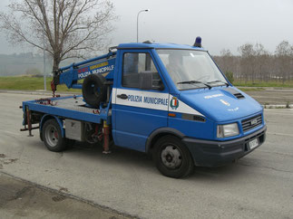 Fiat IVECO con allestimento Autogrù