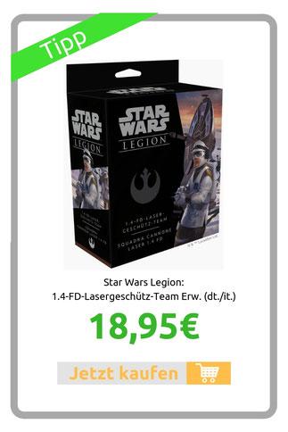 Star Wars Legion: 1.4-FD-Lasergeschütz-Team Erw. (dt./it.)
