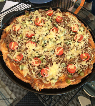 Cheesburger Pizza Grillstein Pampered Chef