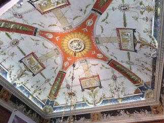 Très beau plafond de la sala dell Vedute
