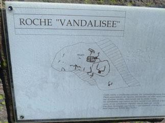 "Roche ""vandalisée"""