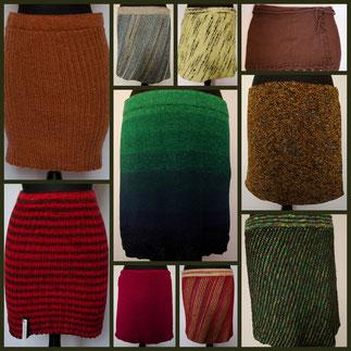 Handstrick, handgestricktes, Unikat, Rock, Skirt, Strickrock, Rock aus Wolle