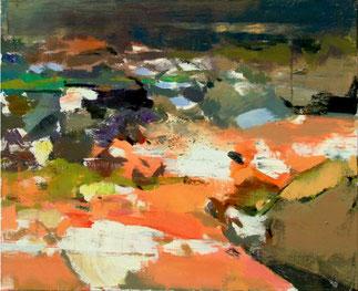 GUO CHANGLIANG, Taihang Landscape No. 5, 2013, Acryl auf Leinwand, 50 x 60 cm, € 2.100,--