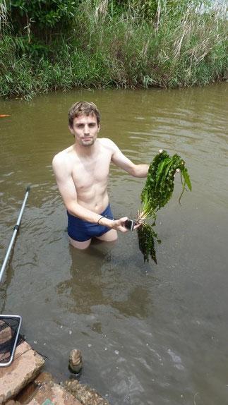 Michael Wolfinger auf einer seiner Garnelenreisen in Sri Lanka