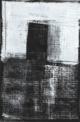 Blatt 1: Gegenraum, Monotypie, 30 Unikate, Renate Hansen