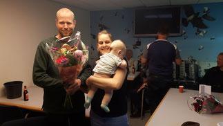 Bloemen voor eerste prijs