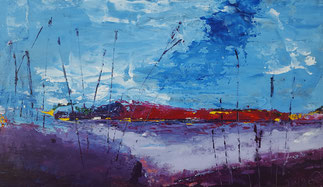 """West View#2""21.5 x 35.5cm mixed media on cradled board. WV02mm"