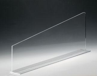 Warentrenner Acryl transparent, Artikel 9909015, FMU GmbH, Warentrenner, Blickfang