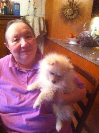 11.11.2014 Arabella vom Pommerle durfte zu Antoinette und Familie nach Berikon ziehen