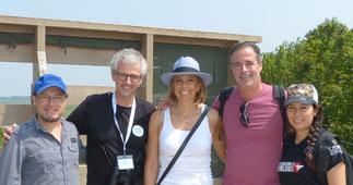 En mai dernier dans la réserve ornithologique Zwin, le staff belge (Philippe Vander Elst et Diana I. Marulanda) avec le directeur de Biotropical Guillem Chacon, la consultante événementielle Sandra Díaz et un membre de l'équipe ornithologique du Zwin