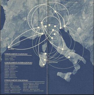 Rotte di Air Dolomiti ad inizio 1995