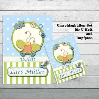 Hüllen-Set für U-Heft und Impfpass Käfer