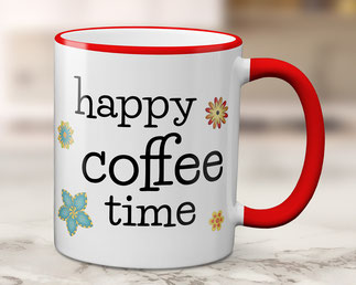 Tasse happy coffee time