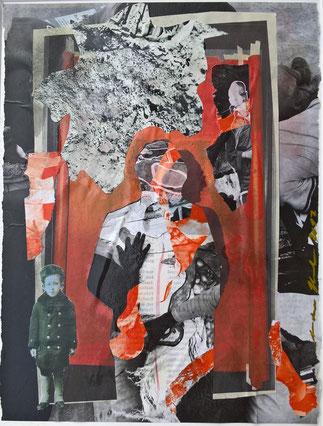 Herbst-orange Komposition 40x30 € 95,00