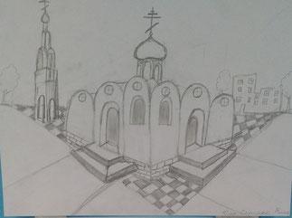 """""""Храм"""" Скрипко В. Преподаватель Смоляниченко В. С."""