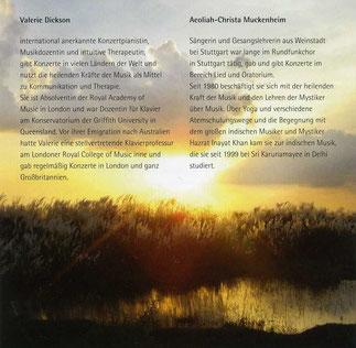 Guten Abend, gut' Nacht - CD - Wiegenlieder - Aeoliah Christa Muckenheim Sopran und Valerie Dickson Piano - Verlag Heilbronn-1