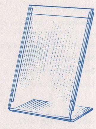 Sparkassen-Filial-Plakat-Ständer aus Plexiglas. Im Gebrauch 1964.