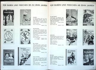 Geschenke für Weltspartag und Jugendsparwoche der Sparkasse (Weltspartagsgeschenke 1965). Kinder und Jugendliche (Bücher).