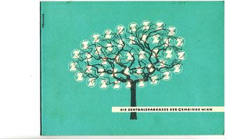 Weihnachtskarte der Zentralsparkasse der Gemeinde Wien um 1957.