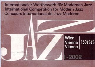 Internationaler Wettbewewerb für modernen Jazz - (Friedrich Gulda) Wien 1966.
