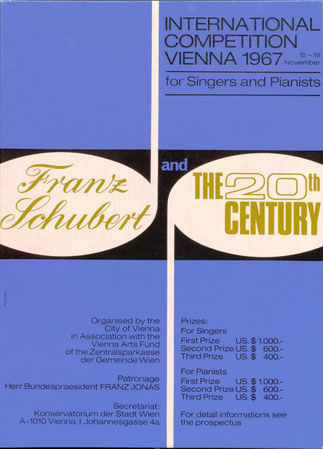 Plakat: International Competition Vienna 1967 for Singers and Pianists. Franz Schubert and the 20th Century.