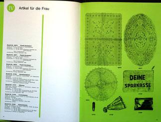 Weltspartagsgeschenke der Sparkasse. Angebote des Sparkassenverlages 1964.