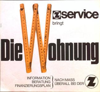 Zentralsparkasse Werbung für Wohnungsfinanzierung 1969.