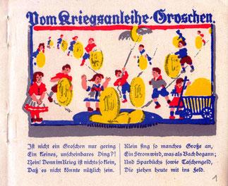 VII kriegsanleihe german war bonds 1918 savings bank bonn