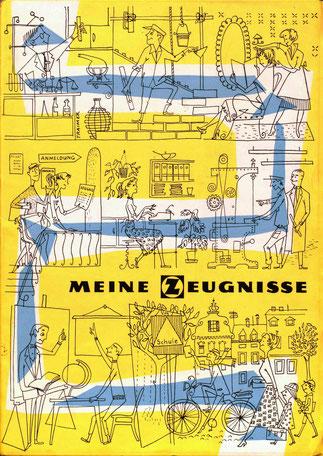 Zeugnismappe der Zentralsparkasse. Von 1958-1979 verwendet.