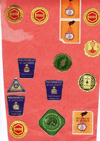 Weltsparmarken, Briefsiegel oder Marke zu verwenden (1954).