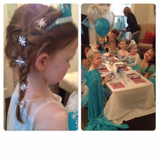 "Hairstyles & Snowflake Makeup for ""Frozen"" Party"