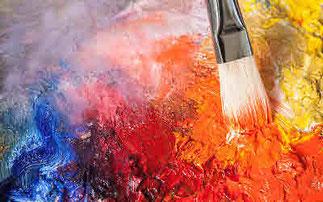 Bild: Farbpigment Orange