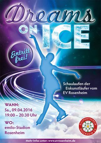 Dreams on Ice 2016: Schaulaufen vom EV Rosenheim