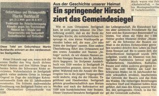 Bild: Seeligstadt Chronik 1987