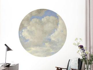 Wunderbar poetischer Tapeten-Kreis mit Wolken