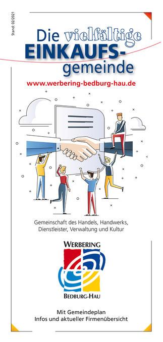 Titelseite des neuen Faltflyers 2021/2022 der Gemeinde Bedburg-Hau.