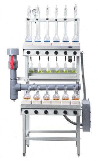2123211 Aparato Kjeldahl Combinado digestión / destilación